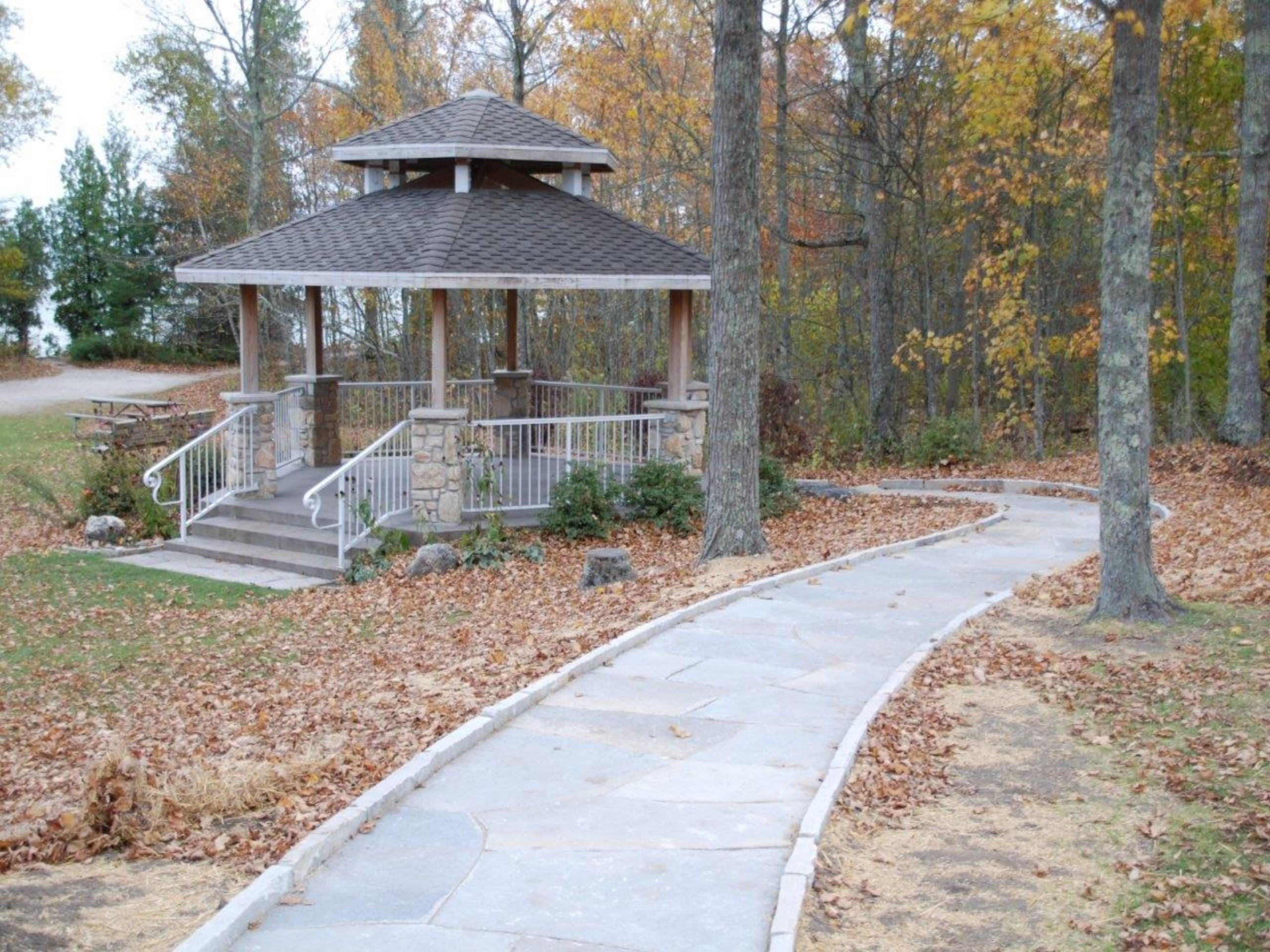 Cave Point County Park Gazebo with accessible pathway